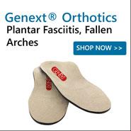 Genext Orthotics For Plantar Fasciitis, Flat Feet, Metatarsalgia, Stability